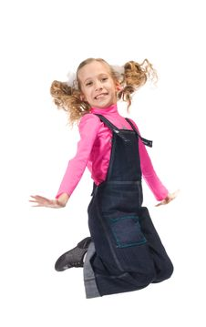 Free Jumping Happy Young Girl Royalty Free Stock Photography - 19161777
