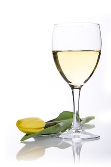 Free A Glass Of Wine Royalty Free Stock Photos - 19161838