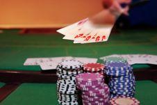 Free Poker Player Showing Royal Flush Royalty Free Stock Photos - 19162088