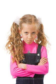 Free Young Girl Looking Upset Stock Images - 19162114