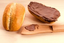 Free Bread With Chocolate Stock Photo - 19162230