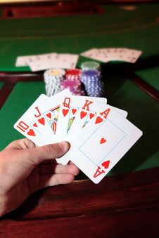 Free Royal Flush Of Hearts Royalty Free Stock Photography - 19162247