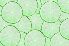 Free Green Limes Slices Royalty Free Stock Images - 19162409