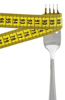 Free Measuring Tape On Fork Stock Images - 19163214