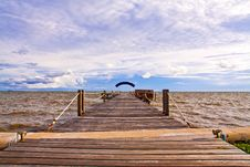 Free Wooden Jetty Into The Sea Stock Photos - 19163473