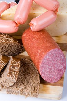 Free Bread And Sausages Royalty Free Stock Images - 19163689