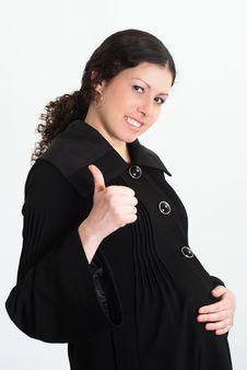 Free Pregnant Woman On White Stock Image - 19163691