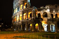 Free Rome Coliseum By Night Royalty Free Stock Photos - 19163878