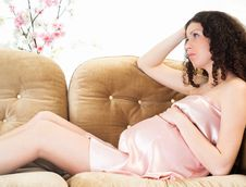 Portrait Of A Pregnant Woman Royalty Free Stock Photos