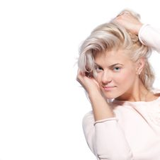 Free Blond Woman Posing For Camera Royalty Free Stock Images - 19164949