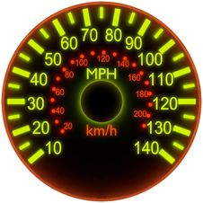 Free Illustration Of A Speedometer. Stock Photos - 19165113
