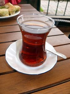 Turkish Tea In The Glass Stock Photography