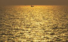 Free Golden Sea Stock Photos - 19165953