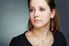 Elegant Beautiful Woman Wearing Jewelry Stock Photos