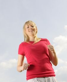 Free Young Woman Jogging Stock Photography - 19166132