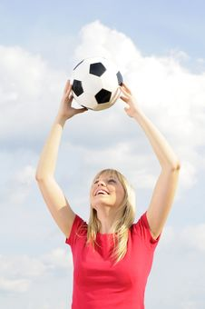 Free Young Woman With Soccer Ball Stock Photos - 19166823
