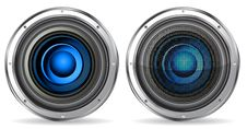 Free Blue Quality Speaker Stock Photos - 19166883