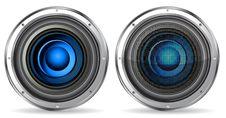 Free Blue Quality Speaker Stock Photos - 19166883