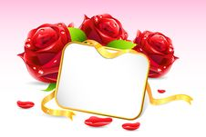 Card With Rose Stock Images