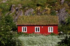 Free Red Wooden House Stock Images - 19168054