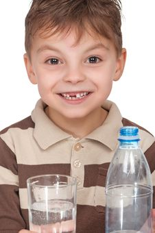 Free Boy With A Bottle Of Water Royalty Free Stock Photo - 19168245