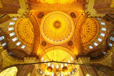 Free Golden Mosque Roof Royalty Free Stock Image - 19169276