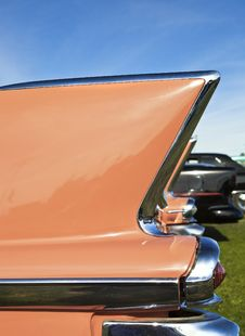 Classic Car Tail Fin Stock Photography