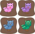 Free Colourful Owls Royalty Free Stock Photo - 19175535
