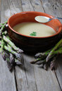 Free Close Up Of Asparagus Soup With A Spoon Royalty Free Stock Image - 19176596