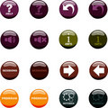 Free Button Icon Set In 4 Colors Stock Photography - 19177362