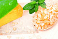 Free Sea Salt And Soap. Royalty Free Stock Photography - 19178887