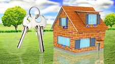 Free House With Keys Royalty Free Stock Photo - 19170685