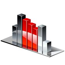 Free Chrome Red Graph. Stock Photo - 19170840