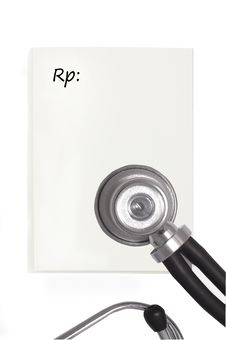 Free Blank Prescription Pad Stock Photography - 19171152