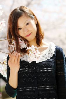 Young Japanese Girl Stock Photo