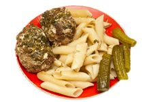 Free Meatballs With Pasta Royalty Free Stock Image - 19171186