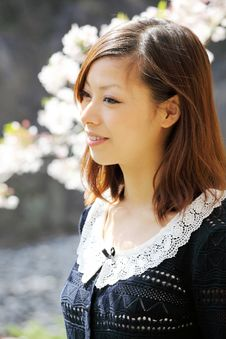 Young Japanese Girl Stock Image