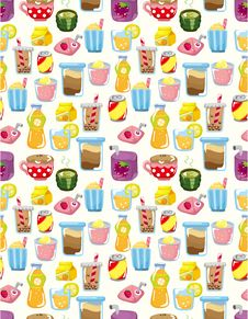Free Seamless Drink Pattern Stock Photo - 19171560