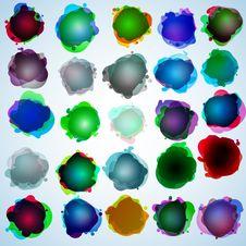 Color Speech Bubbles Collection. EPS 10 Stock Image