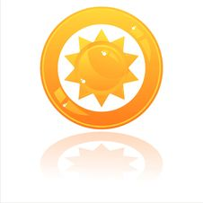Free Glossy Sun Button Stock Photo - 19171920