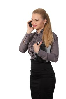 Free Businesswoman With A Phone Royalty Free Stock Photography - 19172077