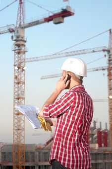 Free Architect Working Outdoors On A Construction Site Royalty Free Stock Photo - 19172095