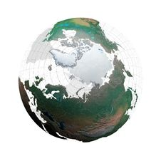 Transparent Globe With Continents And Grid System Royalty Free Stock Photo