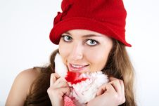 Free Beautiful Woman In Winter Hat. Royalty Free Stock Images - 19172309