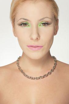 Free Beautiful Blond Girl, Joyful Color Makeup Stock Photos - 19172603