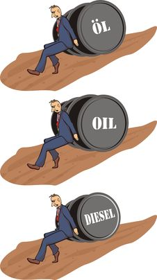 Free Price Increase - Barrel Of Oil Stock Photos - 19172963