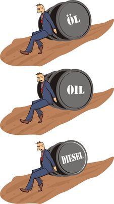 Price Increase - Barrel Of Oil Stock Photos