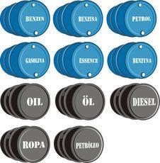 Barrel Of Oil & Petrol Royalty Free Stock Photos