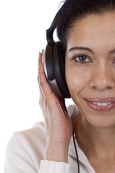 Free Close-up Of A Happy Woman Enjoying  Music Royalty Free Stock Photography - 19173217