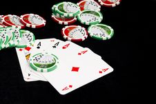 Free Poker Of Aces Royalty Free Stock Image - 19173316